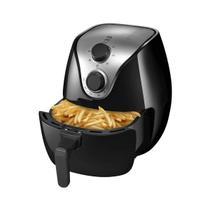 Fritadeira Air Fryer Multilaser 1500W 4L Sem óleo CE021 Preta 110v -