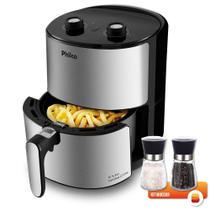 Fritadeira Air Fryer Philco 3,2L Inox 127V com Kit Moedor Sal e Pimenta Bela Home 180ml -