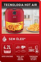 Fritadeira airfry super rfry 220v verm - Arno