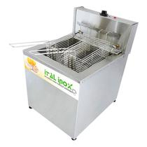 Fritadeira de Batata Industrial 18 Litros 58 kg/hora Água e Óleo 1 Cuba 2 Cestos - Ital Inox -