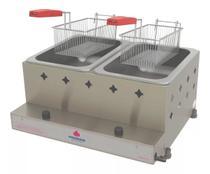 Fritadeira Dupla Profissional Inox 10L + Kit Gás - Progás -