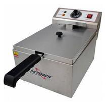 Fritadeira Elétrica 1 Cubas 5 Litros  Skymsen Inox Fe 10N220v -