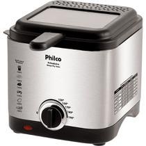 Fritadeira Elétrica 1,8L Philco Deep Fry Inox Prata e Preta 127V -