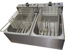 Fritadeira Elétrica 2 Cubas 10 Litros Industrial 110v - Boni -