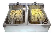 Fritadeira Elétrica 2 Cubas 10 Litros INOX - 220V ou 110v BONI -