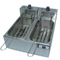 Fritadeira Elétrica 2 Cubas 8 Litros 110v - Fast Equipamentos