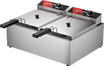 Fritadeira Elétrica 2 Cubas inox Industrial 10 litros a Óleo Metalcubas FRCE 10 -