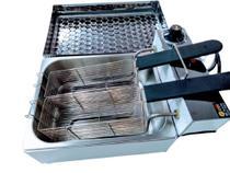Fritadeira elétrica 5 Litros conjugada com tampa e 2 Cestos - Gomes Inox