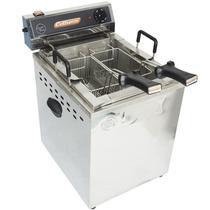 Fritadeira Elétrica Água Óleo 25 Litros 8000W Mesa Bancada 220V Industrial Profissional Turbo Inox - Cotherm