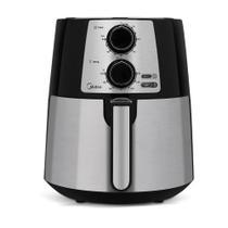 Fritadeira Elétrica Airfryer Midea sem Óleo 3.5L  Preta e Inox -