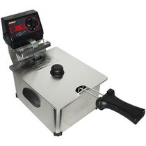 Fritadeira Elétrica com Óleo 5 Litros 1 Cuba Industrial Profissional Cotherm Frita Fácil Inox -
