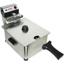 Fritadeira Elétrica com Óleo 5 Litros 1 Cuba Industrial Profissional Cotherm Inox -
