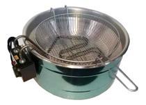 Fritadeira Elétrica de 3,5 a 5 Litros Redonda Alumínio 110 V Profissional Alta Qualidade + Garantia - Comprettudo