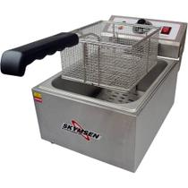 Fritadeira Elétrica Industrial 1 cuba, Inox - 5 Litros - FE-10-N - Selo Inmetro - Skymsen -