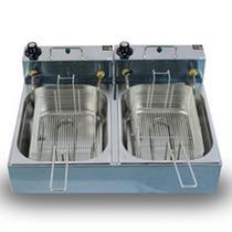 Fritadeira Elétrica Industrial 10 Litros 2 Cubas 5 Litros cada 220v 6000w - Gomes Inox
