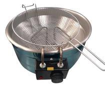 Fritadeira Elétrica Industrial 7 Litros Redonda Aço Inox com Termostato - Central Inox -