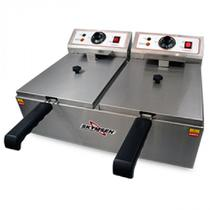 Fritadeira Elétrica Inox, 2 Cubas, 11 litros de óleo, Fed-20-n, Skymsen -