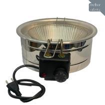 Fritadeira Elétrica INOX Redonda tacho 3,5 a 5 Litros BONI - Loja Do Boni