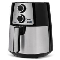 Fritadeira Elétrica Midea Air Fryer 3.5L FRP32 Preto e Inox -