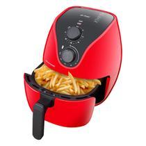 Fritadeira Elétrica Multilaser Air Fryer 4L 1500W Vermelha -