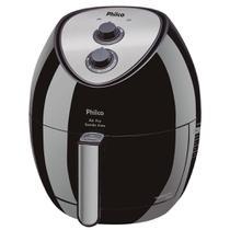 Fritadeira Elétrica Philco Air Fry Saúde Inox 3L Preta - 110V -
