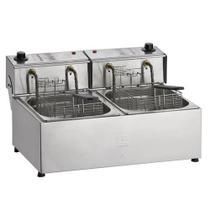 Fritadeira Elétrica Profissional Dupla 10L 2 Cubas 5 Litros FED-10 Fritador 127v - EDANCA -