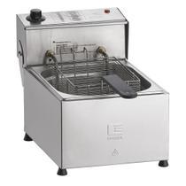 Fritadeira Elétrica Profissional em Aço Inox 1 Cuba 8 Litros Edanca -