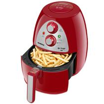 Fritadeira elétrica sem óleo Air Fryer 4L 1500W Ar Family Inox Red - AF-14-4L (110V) - Mondial