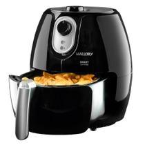 Fritadeira Elétrica Sem Óleo/Air Fryer Mallory - Smart Air Fryer Preta 2,3L com Timer