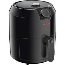Fritadeira elétrica sem óleo airfry super 4,2 l preta 127v - arno -