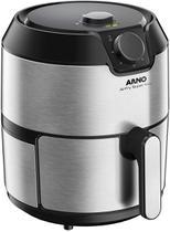Fritadeira elétrica sem óleo airfry super 4,2 l super inox 127v - arno -