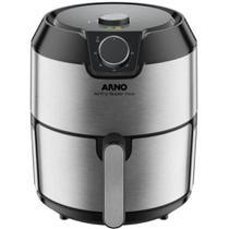 Fritadeira elétrica sem óleo airfry super 4,2 l super inox 220v - arno -