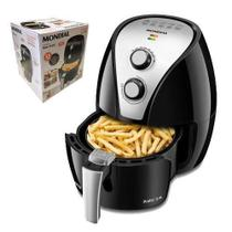 Fritadeira eletrica sem oleo mondial air fryer new pratic 3,5l preta af-31 127v -