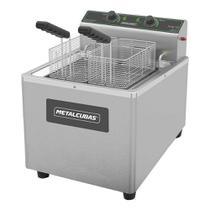 Fritadeira elétrica zona fria de mesa metalcubas 15 litros foe15m 8000w 220v -