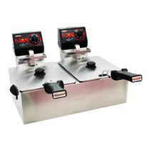 Fritadeira Frita Fácil Com 2 Cubas 5 Litros Inox 220V Cotherm -