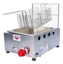 Fritadeira Fritar 1 Cuba Inox 5 Litros À Gás Profissional Salgado Pastéis Porções - Cefaz