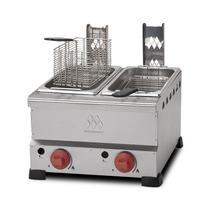 Fritadeira gás 2 cubas 4 litros cada  ft.4.428 marchesoni -