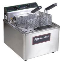 Fritadeira Industrial Elétrica De Bancada 15 Litros Zona Fria 8000w 1 Cuba 2 Cestos - Metalcubas -
