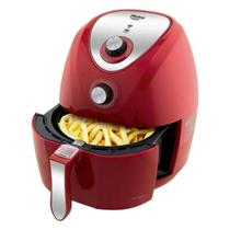 Fritadeira Philco Air Fry Saúde INOX 1400w Sem Óleo 3.2 Litros Vermelha -