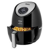 Fritadeira Philco Air Fryer Inox, 3L, 1400W, Preto - 110V -