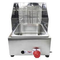 Fritadeira Profissional a Gás Cefaz 1 Cuba 5 Litros FPC-01 -