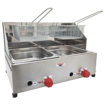 Fritadeira Profissional a Gás Cefaz 2 Cubas 5 Litros FPC-02 -
