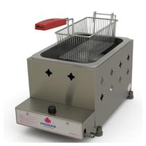 Fritadeira Profissional a Gás Progás Inox 1 Cuba 5 Litros PR-10G -