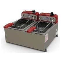 Fritadeira Profissional Elétrica Progás Inox 2 Cubas 10 Litros PR-20E STYLE 127V -