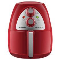 Fritadeira Sem Óleo Air Fryer Mondial Inox Red Premium AF-14 4 L - Vermelho/ Inox -