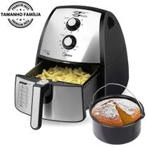 Fritadeira Sem Óleo Elétrica Midea Family Air Fryer Premium Inox 4 Litros -