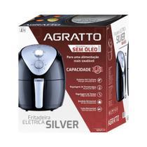 Fritadeira sem Oleo Fryer Silver AFS 1270W  Agratto, Preto/Prata -