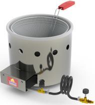 Fritadeira Tacho 3 Litros a Gás Aço Inox Frituras Salgados - Progás