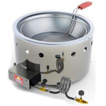 Fritadeira Tacho Progás 7 Litros à Gás GLP Alta Pressão Inox -