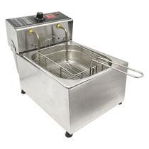 Fritador Fritadeira Profissional Com Óleo 5 Litros 1 Cuba Inox - Edanca -220v -